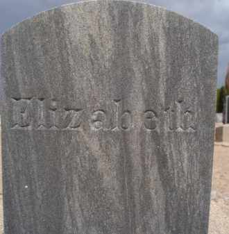 UNKNOWN, ELIZABETH - Cochise County, Arizona | ELIZABETH UNKNOWN - Arizona Gravestone Photos
