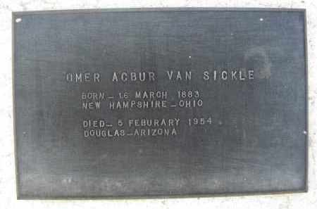 VAN SICKLE, OMER ACBUR - Cochise County, Arizona   OMER ACBUR VAN SICKLE - Arizona Gravestone Photos