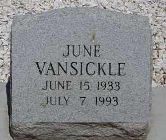 VANSICKLE, JUNE - Cochise County, Arizona | JUNE VANSICKLE - Arizona Gravestone Photos
