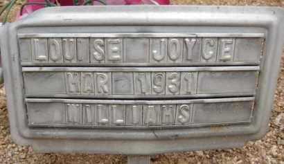 WILLIAMS, LOUISE JOYCE - Cochise County, Arizona | LOUISE JOYCE WILLIAMS - Arizona Gravestone Photos