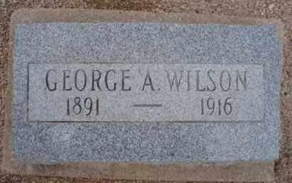 WILSON, GEORGE A. - Cochise County, Arizona | GEORGE A. WILSON - Arizona Gravestone Photos