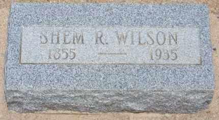 WILSON, SHEM R. - Cochise County, Arizona   SHEM R. WILSON - Arizona Gravestone Photos
