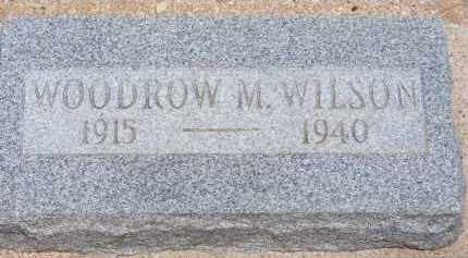 WILSON, WOODROW M. - Cochise County, Arizona | WOODROW M. WILSON - Arizona Gravestone Photos