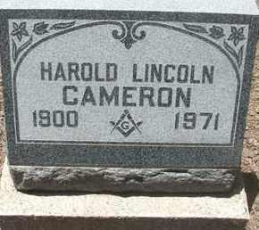 CAMERON, HAROLD LINCOLN - Coconino County, Arizona | HAROLD LINCOLN CAMERON - Arizona Gravestone Photos