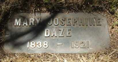 DAZE, MARY JOSEPHINE - Coconino County, Arizona   MARY JOSEPHINE DAZE - Arizona Gravestone Photos