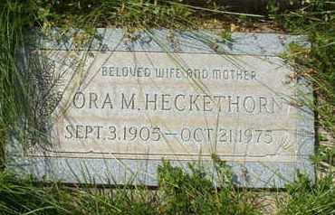 HECKETHORN, ORA M. - Coconino County, Arizona | ORA M. HECKETHORN - Arizona Gravestone Photos