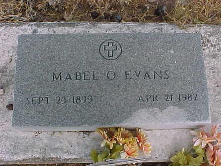 EVANS, MABEL  O. - Gila County, Arizona   MABEL  O. EVANS - Arizona Gravestone Photos
