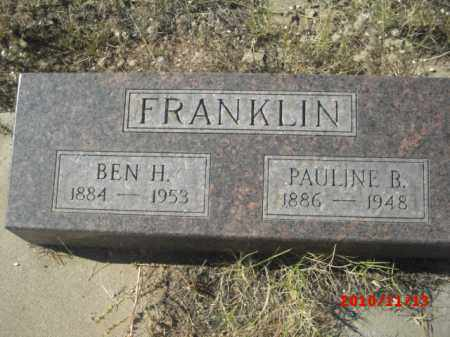 FRANKLIN, BEN  H. - Gila County, Arizona | BEN  H. FRANKLIN - Arizona Gravestone Photos