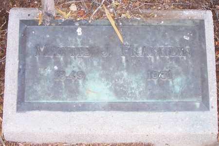 FRANKLIN, MATTIE - Gila County, Arizona   MATTIE FRANKLIN - Arizona Gravestone Photos
