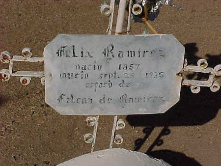 RAMIREZ, FELIX - Gila County, Arizona | FELIX RAMIREZ - Arizona Gravestone Photos