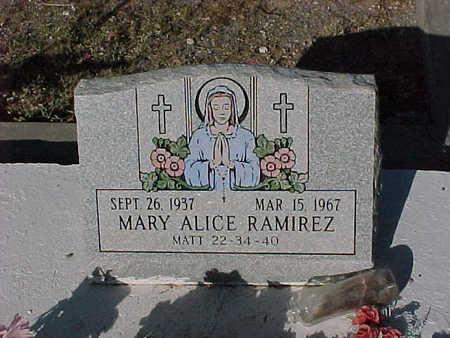 RAMIREZ, MARY  ALICE - Gila County, Arizona   MARY  ALICE RAMIREZ - Arizona Gravestone Photos