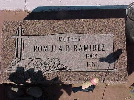 RAMIREZ, ROMULA  B. - Gila County, Arizona | ROMULA  B. RAMIREZ - Arizona Gravestone Photos