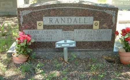 LEAVITT RANDALL, LUCINDA HELEN - Gila County, Arizona | LUCINDA HELEN LEAVITT RANDALL - Arizona Gravestone Photos