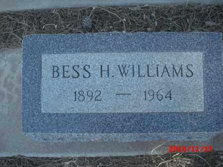 WILLIAMS, BESS   H. - Gila County, Arizona | BESS   H. WILLIAMS - Arizona Gravestone Photos