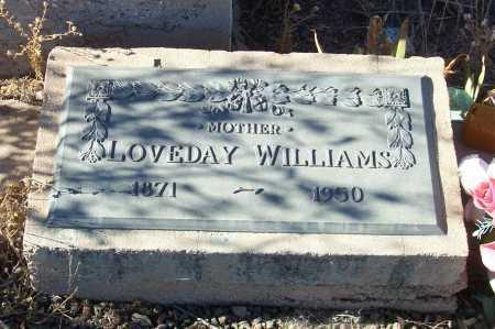 WILLIAMS, LOVEDAY - Gila County, Arizona   LOVEDAY WILLIAMS - Arizona Gravestone Photos