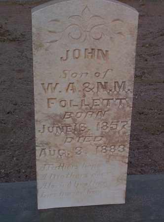 FOLLETT, JOHN - Graham County, Arizona | JOHN FOLLETT - Arizona Gravestone Photos
