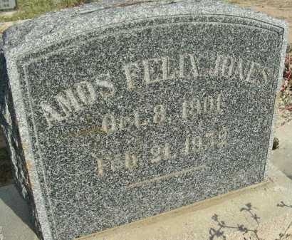 JONES, AMOS FELIX - Graham County, Arizona | AMOS FELIX JONES - Arizona Gravestone Photos