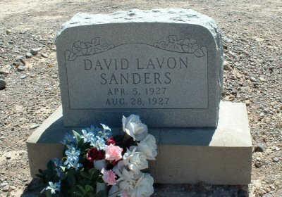 SANDERS, DAVID LAVON - Graham County, Arizona | DAVID LAVON SANDERS - Arizona Gravestone Photos