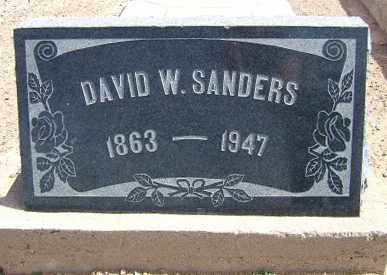 SANDERS, DAVID WALKER - Graham County, Arizona | DAVID WALKER SANDERS - Arizona Gravestone Photos