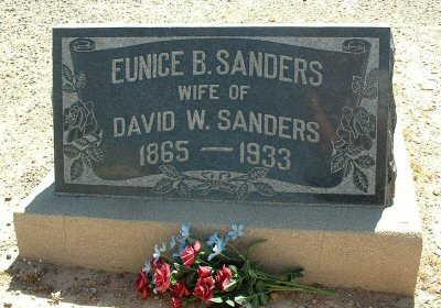 SANDERS, EUNICE B. - Graham County, Arizona | EUNICE B. SANDERS - Arizona Gravestone Photos