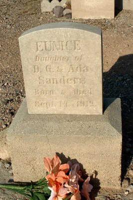 SANDERS, EUNICE - Graham County, Arizona   EUNICE SANDERS - Arizona Gravestone Photos