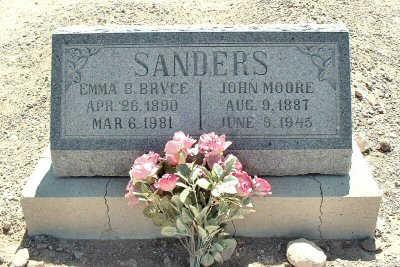 SANDERS, JOHN MOORE - Graham County, Arizona | JOHN MOORE SANDERS - Arizona Gravestone Photos