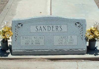 SANDERS, JEWELL - Graham County, Arizona | JEWELL SANDERS - Arizona Gravestone Photos