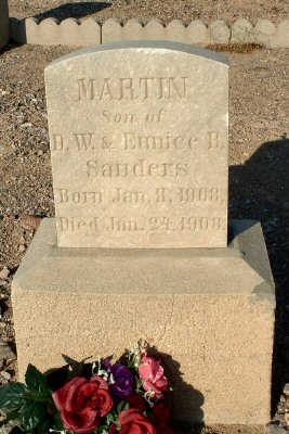 SANDERS, MARTIN - Graham County, Arizona   MARTIN SANDERS - Arizona Gravestone Photos