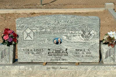 SANDERS, VERA - Graham County, Arizona | VERA SANDERS - Arizona Gravestone Photos