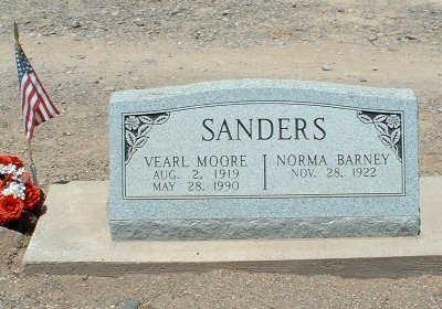 SANDERS, VEARL MOORE - Graham County, Arizona | VEARL MOORE SANDERS - Arizona Gravestone Photos