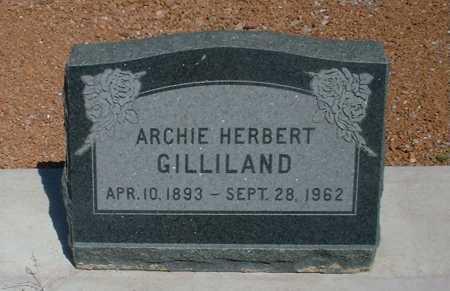 GILLILAND, ARCHIE HERBERT - Greenlee County, Arizona | ARCHIE HERBERT GILLILAND - Arizona Gravestone Photos