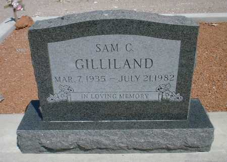 GILLILAND, SAM CAROLL - Greenlee County, Arizona   SAM CAROLL GILLILAND - Arizona Gravestone Photos