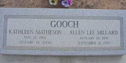 GOOCH, KATHLEEN - Greenlee County, Arizona | KATHLEEN GOOCH - Arizona Gravestone Photos
