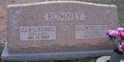 RANDLE ROMNEY, EULA C. - Greenlee County, Arizona | EULA C. RANDLE ROMNEY - Arizona Gravestone Photos
