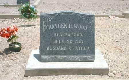 WOOD, HAYDEN H. - Greenlee County, Arizona | HAYDEN H. WOOD - Arizona Gravestone Photos