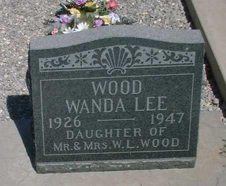 WOOD, WANDA LEE - Greenlee County, Arizona | WANDA LEE WOOD - Arizona Gravestone Photos