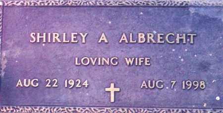 ALBRECHT, SHIRLEY A. - Maricopa County, Arizona   SHIRLEY A. ALBRECHT - Arizona Gravestone Photos