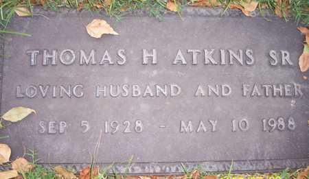 ATKINS, THOMAS H., SR. - Maricopa County, Arizona   THOMAS H., SR. ATKINS - Arizona Gravestone Photos