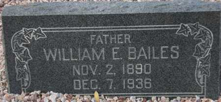 BAILES, WILLIAM E. - Maricopa County, Arizona   WILLIAM E. BAILES - Arizona Gravestone Photos