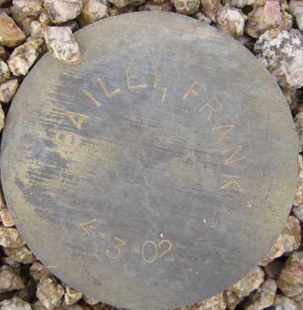 BAILEY, FRANK - Maricopa County, Arizona | FRANK BAILEY - Arizona Gravestone Photos