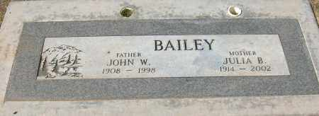 BAILEY, JOHN W. - Maricopa County, Arizona | JOHN W. BAILEY - Arizona Gravestone Photos