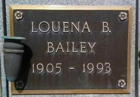 BAILEY, LOUENA B. - Maricopa County, Arizona   LOUENA B. BAILEY - Arizona Gravestone Photos