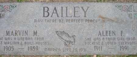 BAILEY, MARVIN M - Maricopa County, Arizona | MARVIN M BAILEY - Arizona Gravestone Photos