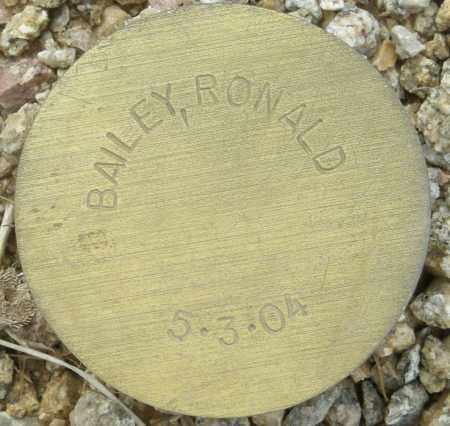 BAILEY, RONALD - Maricopa County, Arizona   RONALD BAILEY - Arizona Gravestone Photos