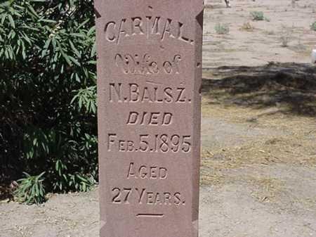 BRACAMONTE BALSZ, CARMAL - Maricopa County, Arizona   CARMAL BRACAMONTE BALSZ - Arizona Gravestone Photos