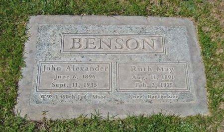 BENSON, JOHN ALEXANDER - Maricopa County, Arizona | JOHN ALEXANDER BENSON - Arizona Gravestone Photos