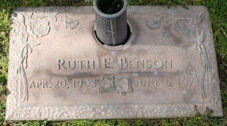 BENSON, RUTH E - Maricopa County, Arizona | RUTH E BENSON - Arizona Gravestone Photos