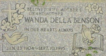 "BENSON, WANDA ""DELLA"" - Maricopa County, Arizona | WANDA ""DELLA"" BENSON - Arizona Gravestone Photos"
