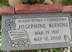 BLEVINS, JOSEPHINE - Maricopa County, Arizona | JOSEPHINE BLEVINS - Arizona Gravestone Photos
