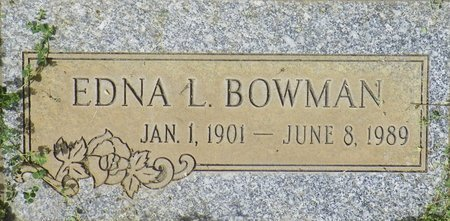 BOWMAN, EDNA L - Maricopa County, Arizona | EDNA L BOWMAN - Arizona Gravestone Photos